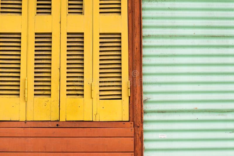 Rocznika Kolorowy okno obraz stock