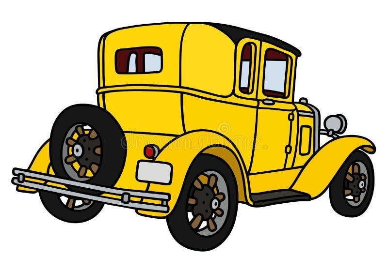 Rocznika koloru żółtego coupe ilustracja wektor