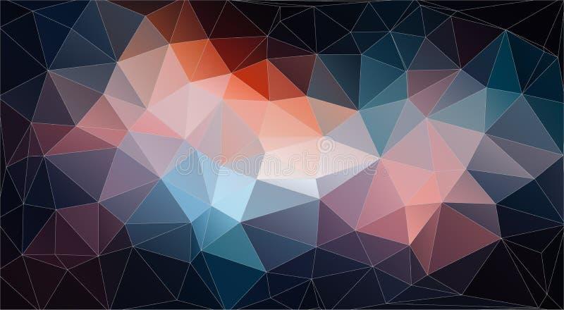 Rocznika koloru tło z trójboków kształtami ilustracja wektor