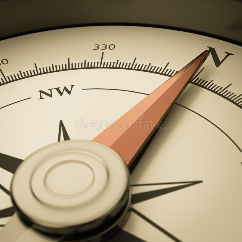 Rocznika kompasu zakończenie ilustracji