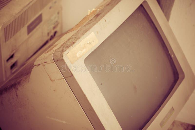 Rocznika komputer zdjęcie stock