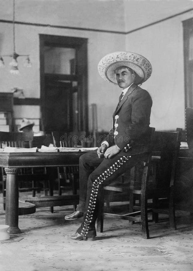Rocznika kowboj, Zachodni bar, sombrero fotografia stock