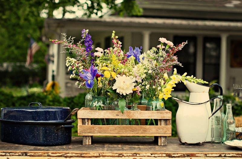 Rocznika kraju kwiaty fotografia stock
