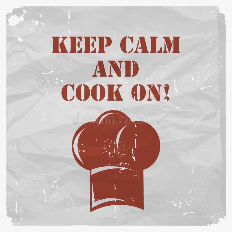 Rocznika kulinarny plakat ilustracja wektor