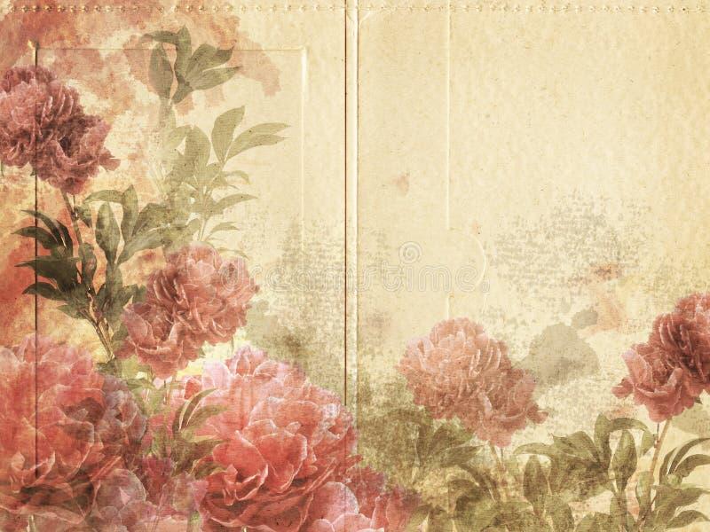 Rocznika Kwiatu Tło obraz stock