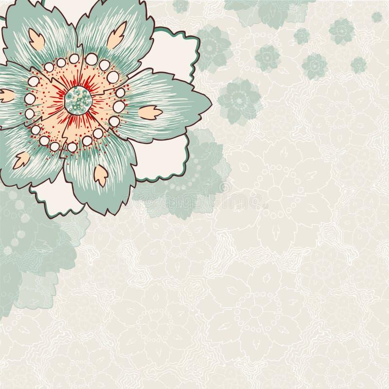 Rocznika kwiatu tło ilustracji
