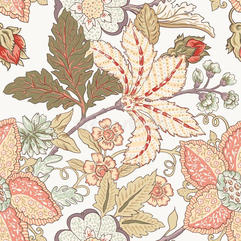 Rocznika kwiatu wzór ilustracja wektor