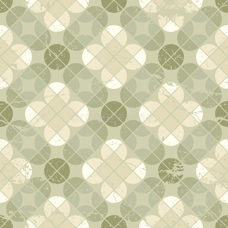 Rocznika kwiecistego quatrefoil bezszwowy wzór, wektorowy geometryczny abs ilustracja wektor