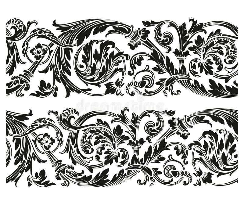 Rocznika kwiecisty ornament ilustracji
