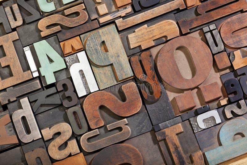 Rocznika letterpress typ tło zdjęcia stock