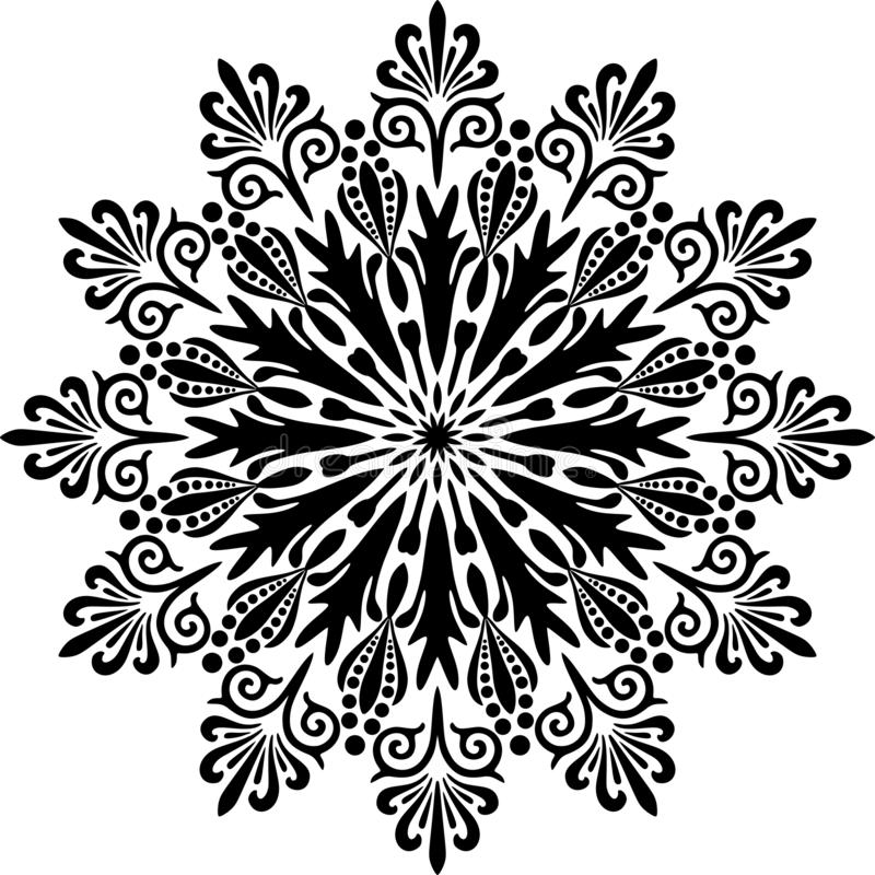 Rocznika mandala projekt w Białym tle royalty ilustracja