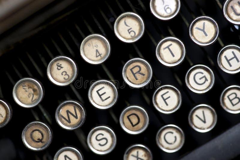 Rocznika maszyna do pisania klucze zdjęcia stock