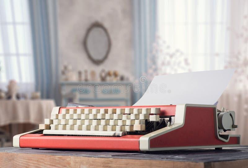 Rocznika maszyna do pisania na stole obrazy royalty free