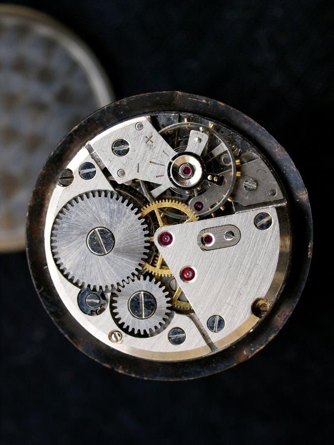 Rocznika mechanika zegarka kaliber fotografia stock