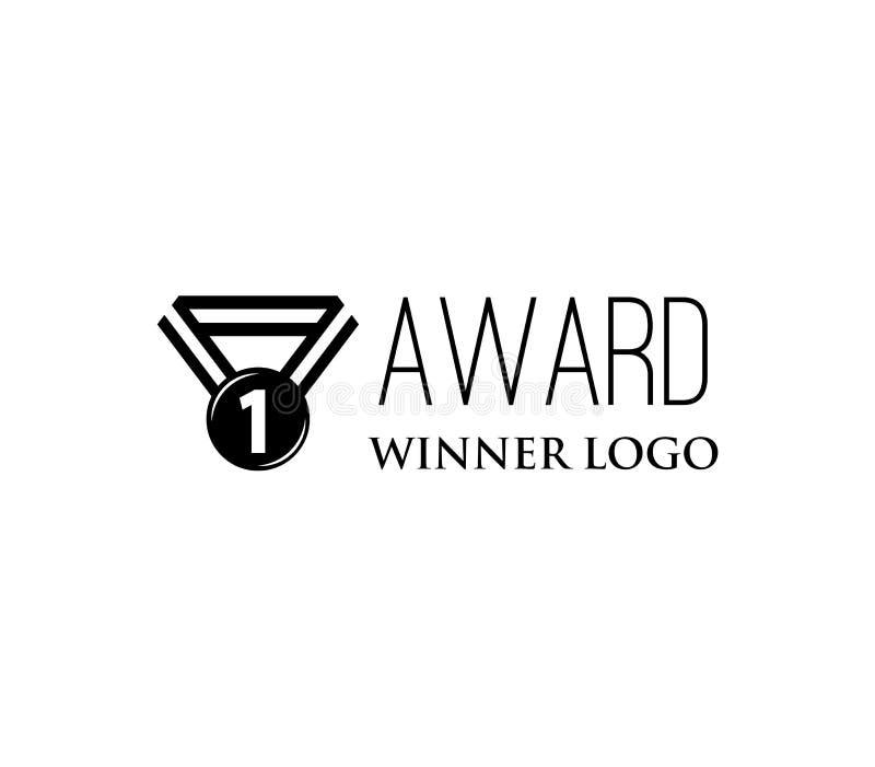 Rocznika medalu ikona Zwycięzcy logo nagradzający również zwrócić corel ilustracji wektora ilustracja wektor