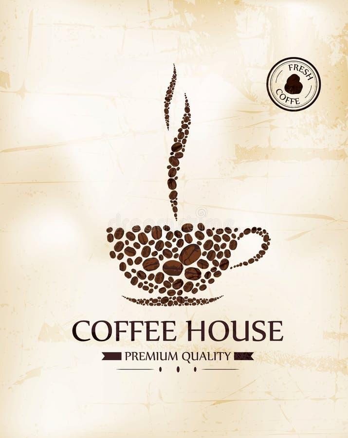 Rocznika menu dla restauraci, kawiarnia, bar, kawa dom ilustracja wektor
