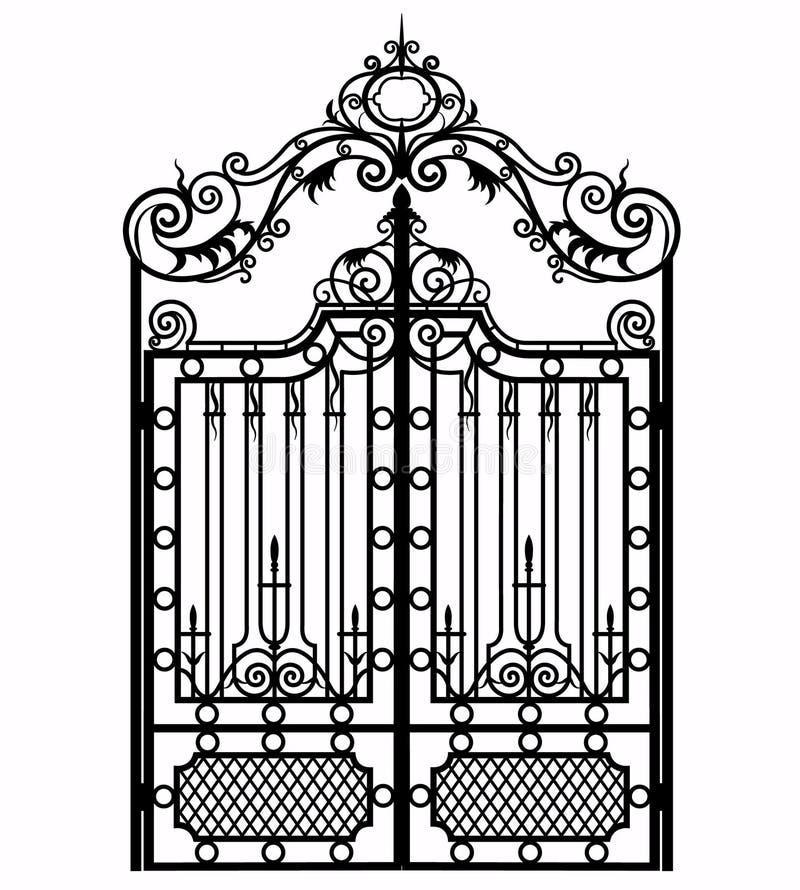 Rocznika metalu brama ilustracja wektor