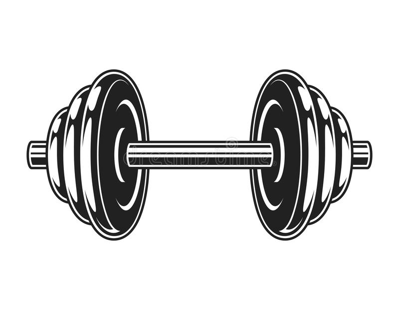 Rocznika metalu dumbbell ikona royalty ilustracja