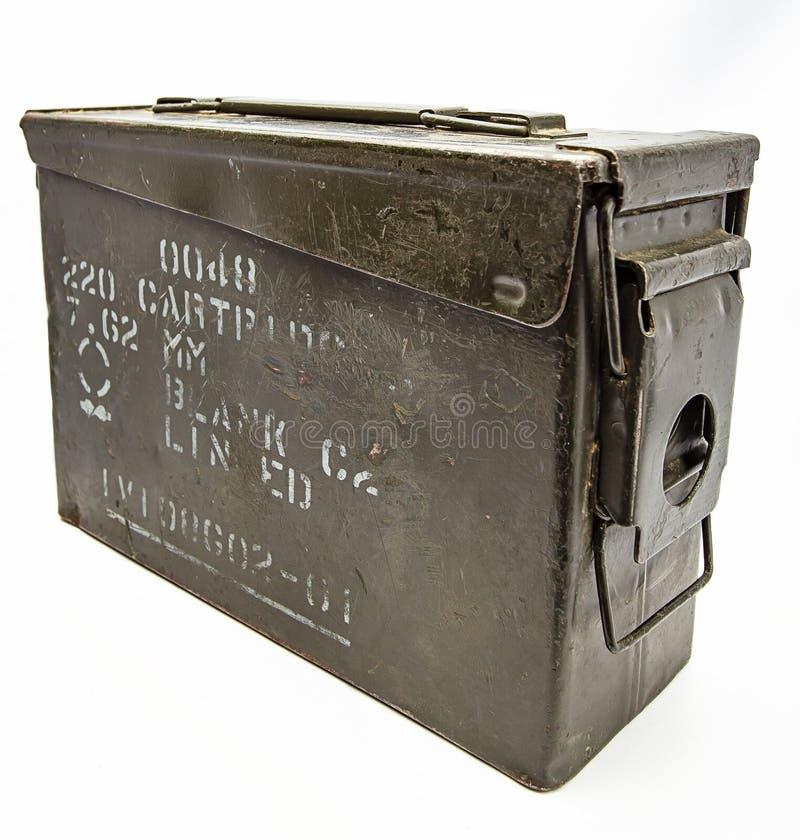 Rocznika metalu uzbrojenia pudełko zdjęcia royalty free