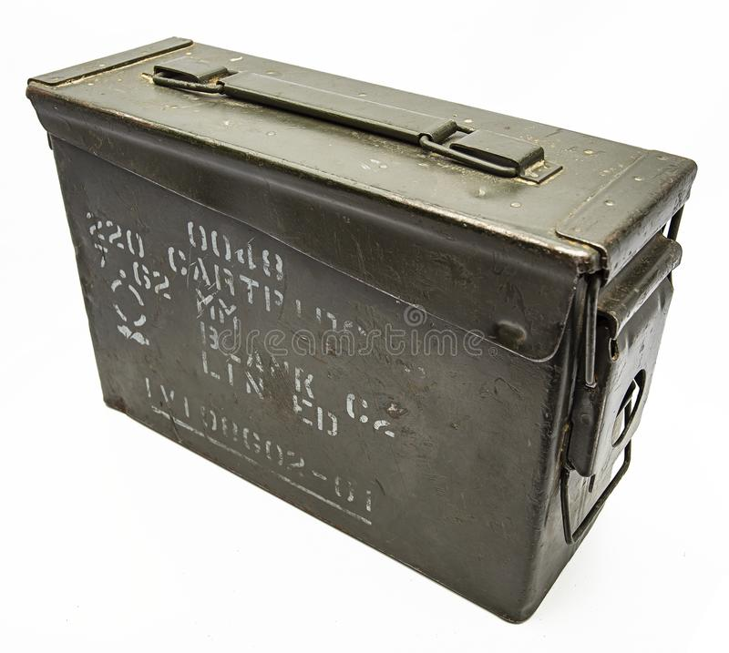 Rocznika metalu uzbrojenia pudełko obraz royalty free