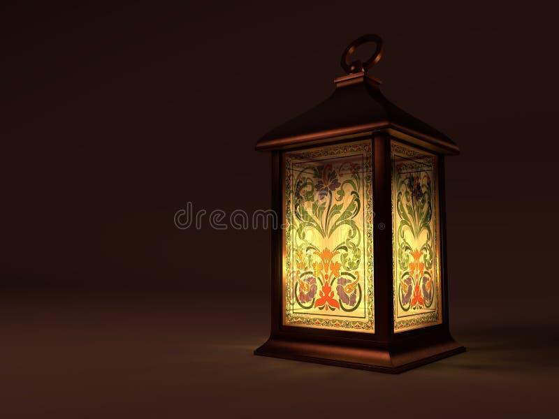 Rocznika miedziany lampion ilustracja wektor