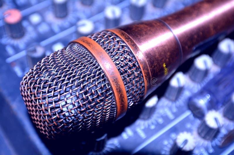 Rocznika mikrofon obrazy royalty free