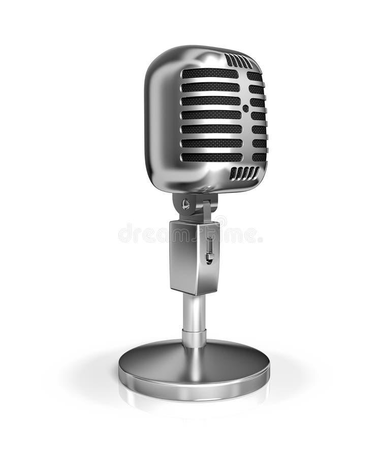 Rocznika mikrofon ilustracji