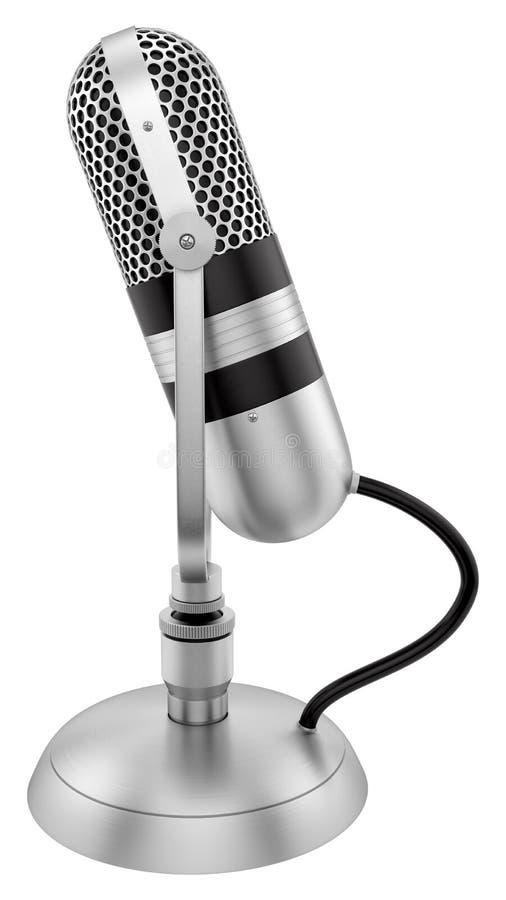 Rocznika mikrofon fotografia royalty free
