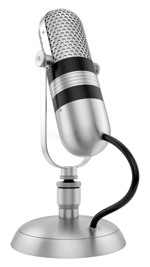 Rocznika mikrofon obraz stock