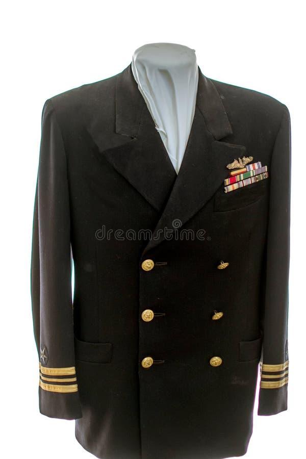 Rocznika militarny smokingowy mundur na pokazie fotografia royalty free