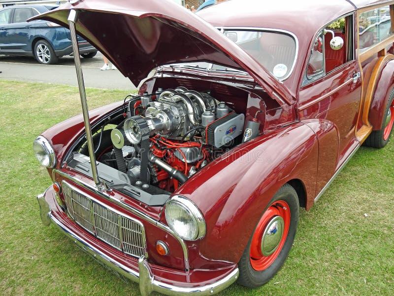 Rocznika Morris Turbo mniejszościowy silnik fotografia stock
