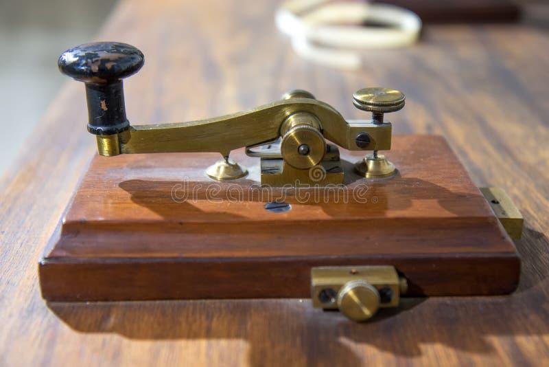 Rocznika Morse telegrafu maszyna obraz stock