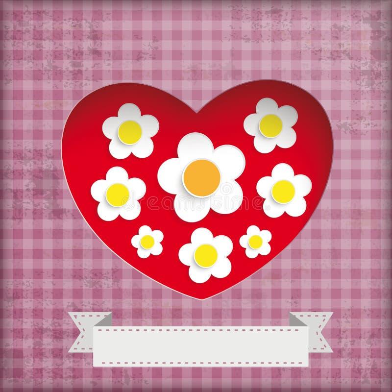 Rocznika Mothersday tła Biali kwiaty ilustracji