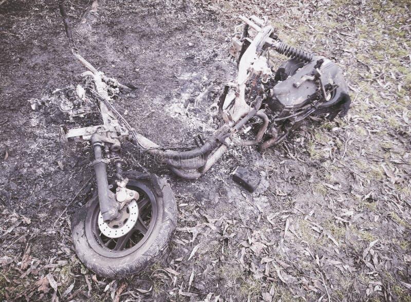 Rocznika motocykl plenerowy obraz stock