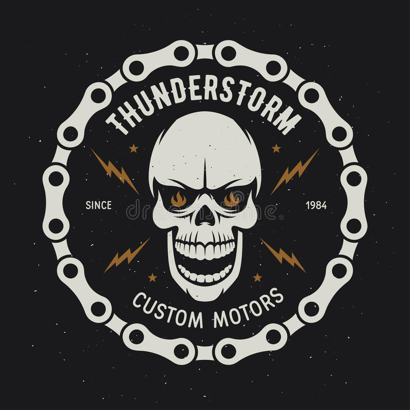 Rocznika motocyklu koszulki grafika burza Obyczajowi silniki również zwrócić corel ilustracji wektora ilustracji