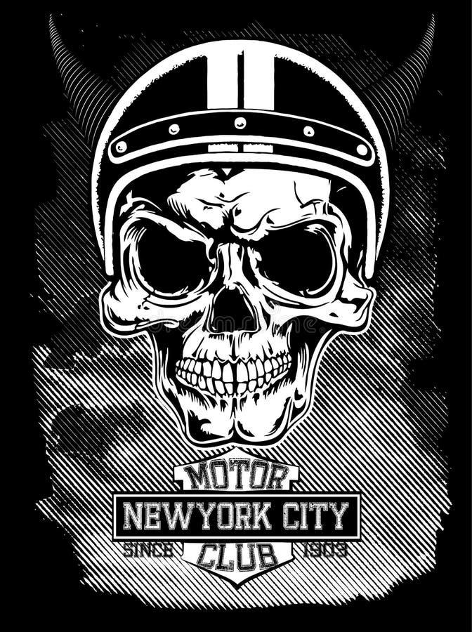 Rocznika motocyklu Nowy Jork typografia, koszulek grafika, wektor ilustracji