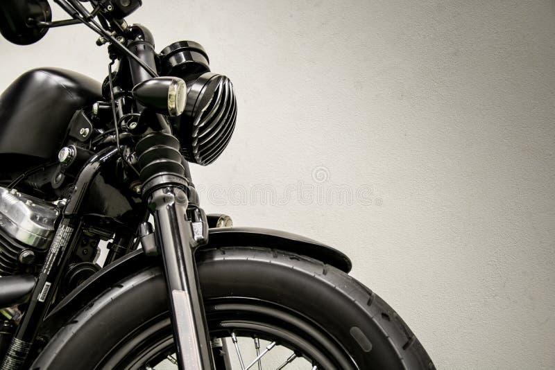 Rocznika motocyklu szczegół obraz royalty free