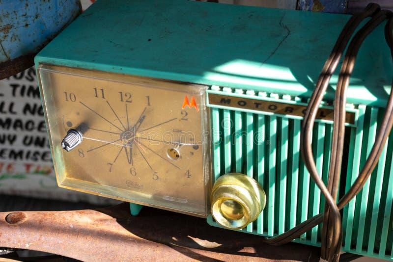 Rocznika Motorola zegar na pokazie fotografia stock