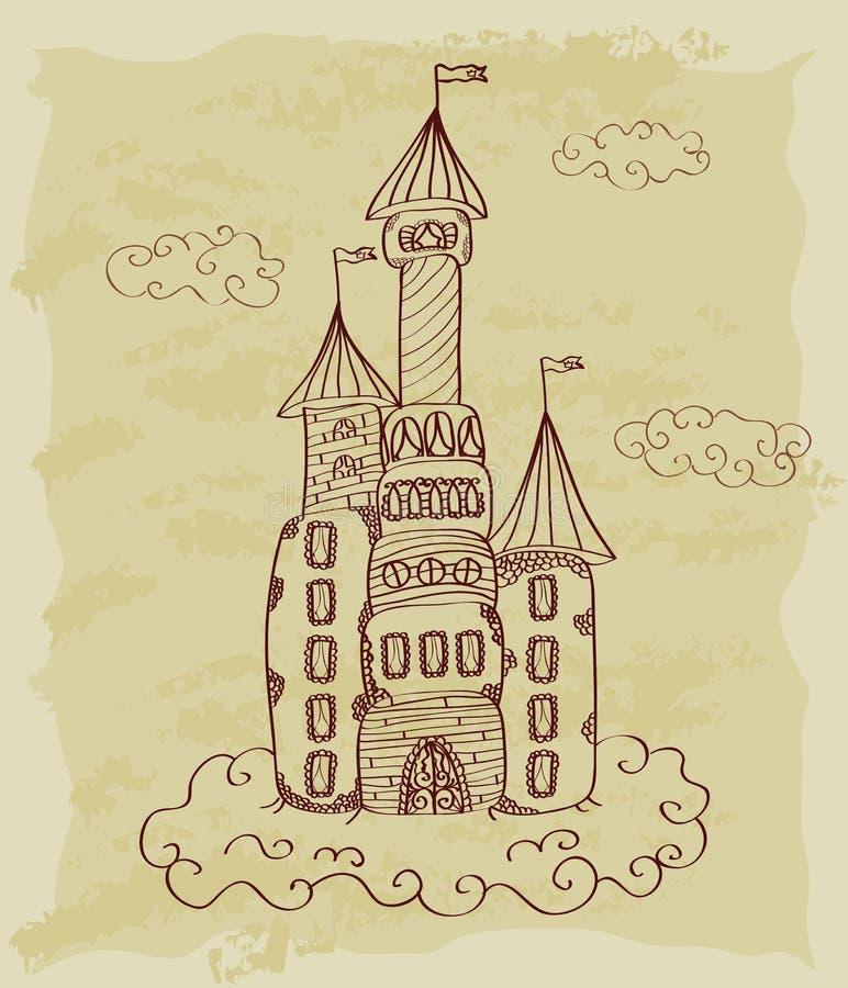Download Rocznika Nakreślenie Kasztel Ilustracja Wektor - Ilustracja złożonej z czarodziejka, znak: 28971696