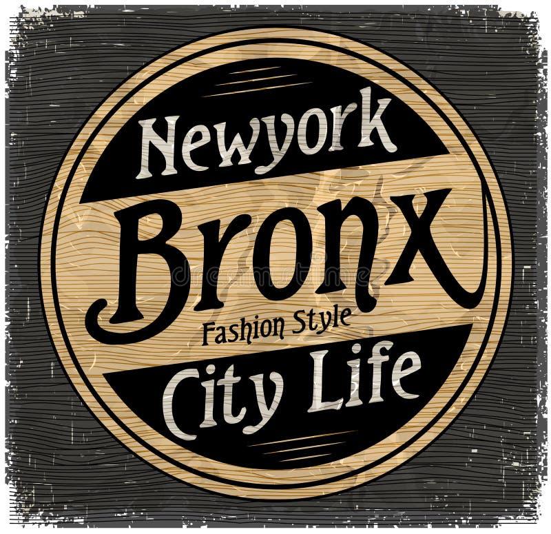 Rocznika Nowy Jork Brooklyn typografia, koszulek grafika, wektory ilustracja wektor