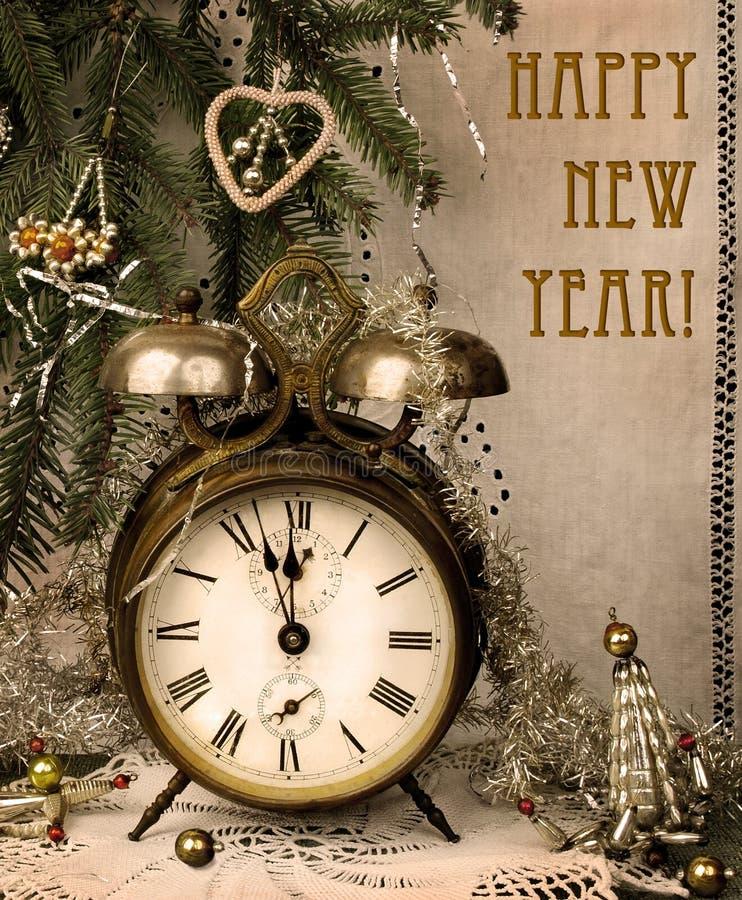 rocznika nowy rok obrazy royalty free