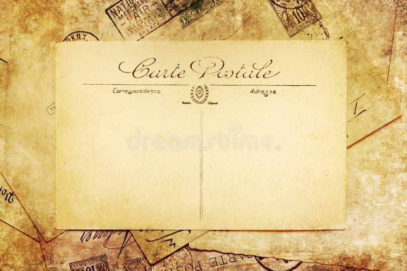 Rocznika obrazek antykwarskie pocztówki obraz stock