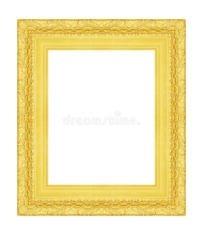 Rocznika obrazka rama odizolowywająca na bielu zdjęcia stock