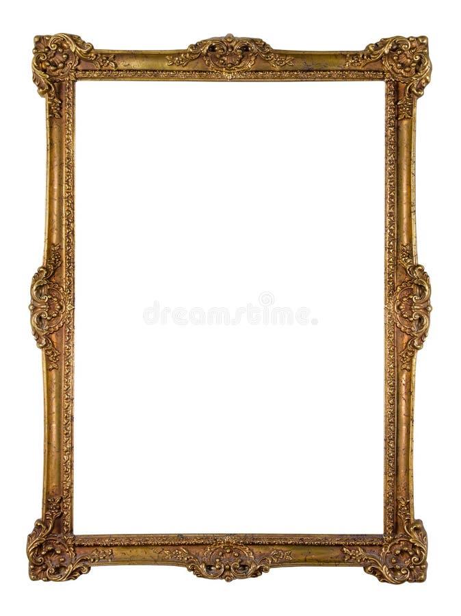 Rocznika obrazka złota rama obrazy stock