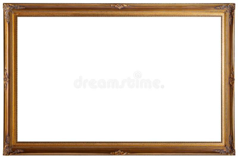 Rocznika obrazu ramy drewniany mockup odizolowywający na białym tle obraz royalty free
