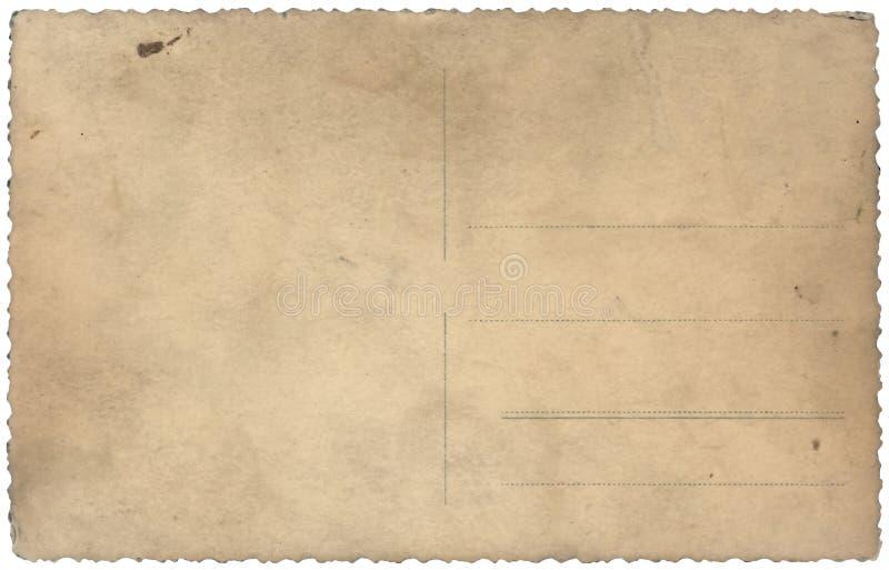 rocznika odosobniony stary pocztówkowy biel zdjęcia stock