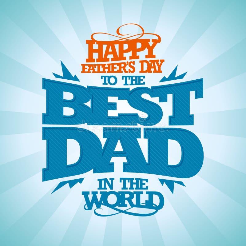 Rocznika ojca dnia Szczęśliwa karta ilustracja wektor