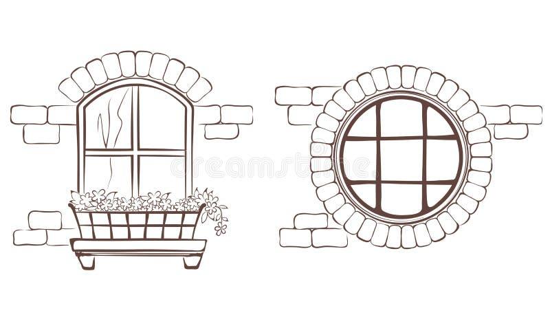 Rocznika okno ilustracja wektor