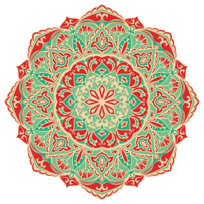 Rocznika orientalny mandala royalty ilustracja