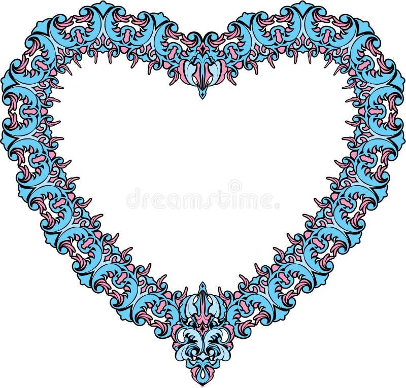 Rocznika ornamentacyjny kierowy kształt. Walentynka dnia samochód royalty ilustracja